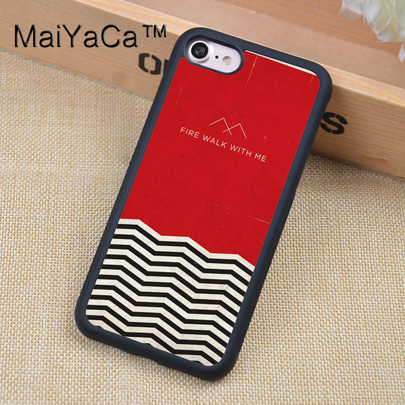 MaiYaCa Twin Peaks Style Printed Soft Rubber Phone Cases For iPhone 6 6S Plus 7 8 Plus X 5 5S 5C SE Back Cover Skin Shell