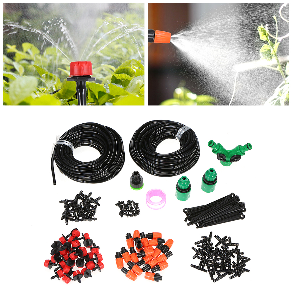 DIY Saving Water Automatic Micro Drip Irrigation System Garden Greenhouse Irrigation Spray Self Watering Kits Irrigation System