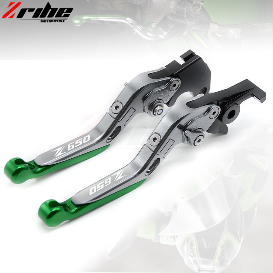For Kawasaki Z650 2016 2017 16 17 motorcycle brake clutch levers Folding Extendable Adjustable CNC Aluminum Brakes Clutch Levers billet adjustable long folding brake clutch levers for kawasaki z750 z 750 2007 2008 2009 2010 2011 07 11 z800 z 800 2013 2014