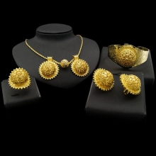 цены dubai 18 carat gold jewelry sets snowflake necklace earrings jewelry set Indian Wedding Jewelry Sets