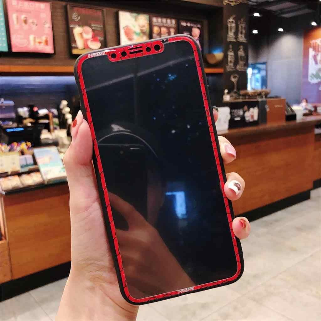 Padrão dos desenhos animados Caso de Telefone Para O iphone X XS Max XR 3D Completa Cobertura de Vidro Temperado Protetor de Tela para iphone 7 8 além de 6 6S