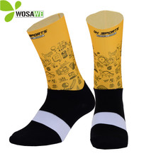Breathable Outdoor Sports Socks Men Basketball Soccer Women Anti-Sweat Bike Bicycle Running Cycling Calf