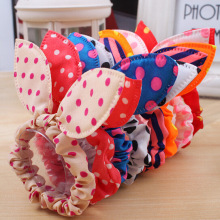 LNRRABC 10Pcs lot Girls Hair Band Mix Styles Polka Dot Bow Rabbit Ears Elastic Hair Rope