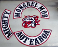 New Arrived 4pcs/set Motor Patches MOB Patches for the Mongrel MOB Motorcycle Club Jacekt  Vest Iron on Patche Biker Label