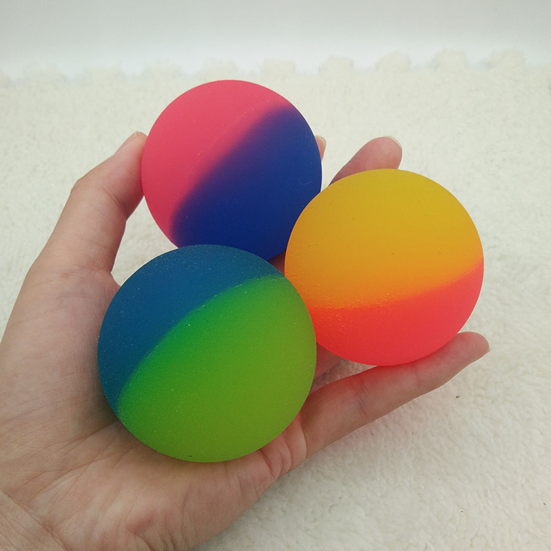 1pc Double-color Rubber Bouncy Balls For Kids Elastic Rubber Ball Children Of Pinball Bouncy Funny Outdoor Toys 5.5cm