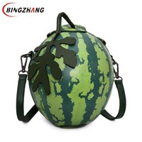 Women Messenger Bags Fashion Green Watermelon Shape Personality Mini Girl Party Bag Leaves Luxury Brand Crossbody