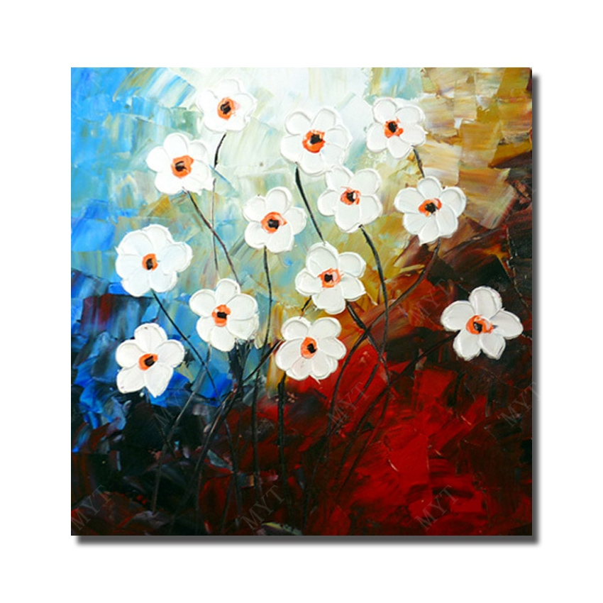 Wholesale modern living room wall decor flower painting large canvas wholesale modern living room wall decor flower painting large canvas art hand painted picture oil canvas no framed in painting calligraphy from home mightylinksfo Choice Image