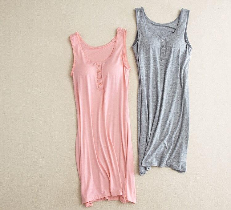 Maternity Nursing clothes dress pajams Clothing Pregnancy sleeveless dress cloth with bra Elastic Basic Dress Tunic