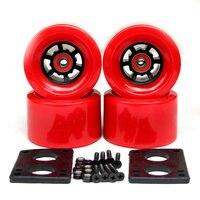 82A Skateboard Wheels 83*52mm Long Board City Run 87*52mm Wheels 6mm Riserpad 35mm Bolts ABEC 9 Bearing Big Longboard Wheels