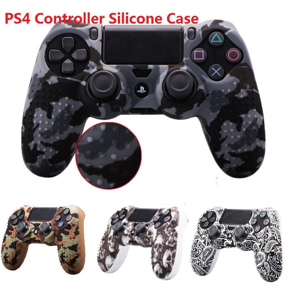 For <font><b>PS4</b></font> <font><b>Controller</b></font> <font><b>Case</b></font> Camouflage Soft Silicone Sleeve <font><b>Case</b></font> Skin Grip Protection Cover for PlayStation 4 <font><b>PS4</b></font> <font><b>Controller</b></font> image