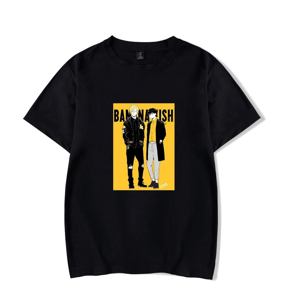 Anime BANANA FISH 2 Fashion T-shirts Men Women T Shirts Casual Sport Tee Shirt Round Neck Short Sleeve T-shirt Top Plus Size 4XL