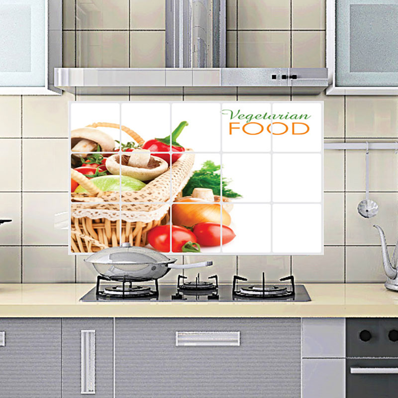 Kitchen Wall Groupings: Home Decor 75*45 CM Kitchen Room Anti Oil Wall Sticker