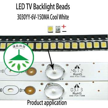 Yongyuekeji 100pcs/lot new led smd 3030 6v 150ma 1w lamp beads cool white for repair tv lcd backlight bar hot фото