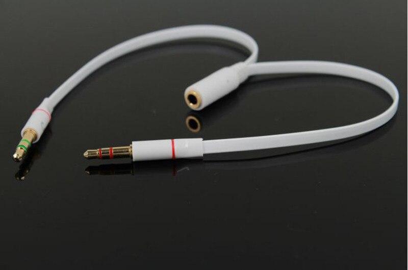 20 см аудио кабель для ноутбука мобильный телефон 3.5 мм Jack мужчин и женщин наушники кабель-удлинитель микрофонный сплиттер адаптер подключен…