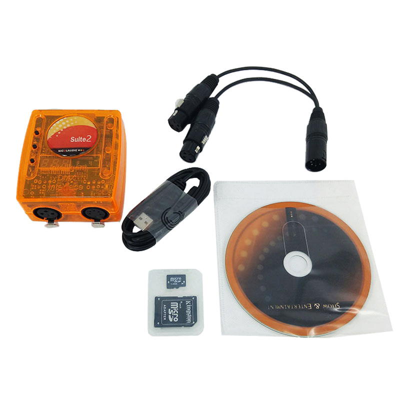 Sunlite Suite2 FC DMX-USD Controller For  For Party KTV Disco DJ Stage Controlling Software,SHEHDS Stage Lighting