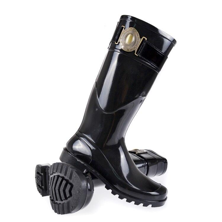 Aliexpress.com : Buy Black classic women rain shoes lady rain ...