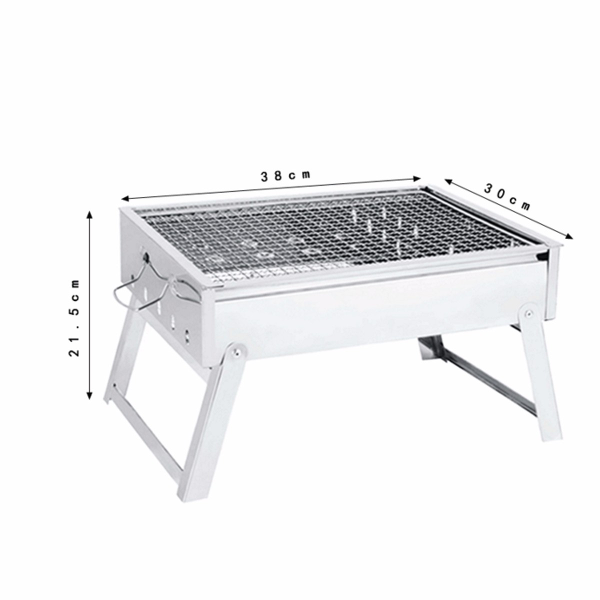 Portable Grill Rack Stainless Steel Stove Pan Outdoor Roaster Charcoal Barbecue Home Oven Set Cooking Picnic Bbq Camping In Grills From