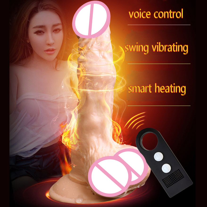 Sound Control heated swing vibrating suction cup dildo realistic penis artificial dick sex toys for woman vibrator real dildos usb heated dildos suction cup dildo realistic vibrator dildo foreskin big dick male artificial penis vibrator sex toy for woman