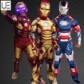 Niños genuinos Avengers Iron Man Marcos 42/Patriot Muscular Infantil de Disfraces de Halloween Niños Marvel Superhero Movie Cosplay Clothin