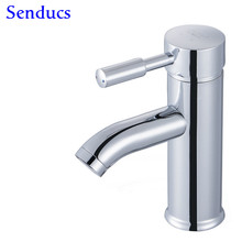 Free shipping Top quality polished chrome basin sink mixer tap with single handle bathroom basin mixer tap by zinc water tap