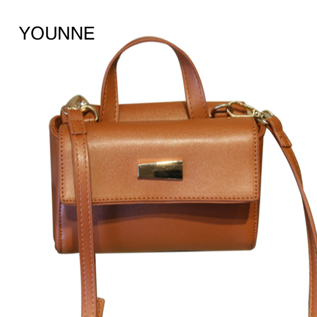 Younne 2018 PU Leather Small Shoulder Bag With Two Shoulder Straps Cute  Small Bags Women Trunk 90666e2839b7e