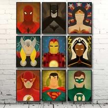 Супергерой Comic Heroes Человек-Паук Бэтмен Железный Человек Супермен Искусства Холст Плакат Современный Минималистский Декор Дома Живопись Бесплатная Доставка