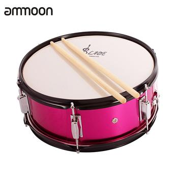 ammoon Professional 14 Inch Snare Drum Head  with Drumstick Drum Key Strap for Student Band High Quality Percussion Instrument