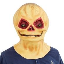 Trick R Treat Studios Sam the Demon Pumpkin Adult Mask Full Head Halloween Theme Party Fancy Cosplay Costume Props