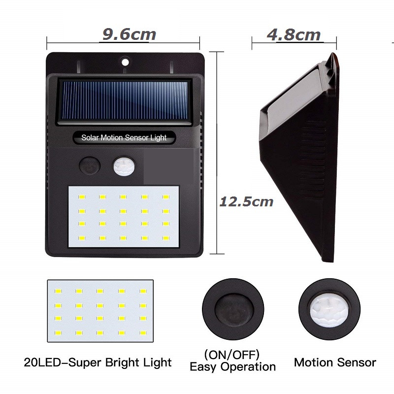 LED Sensor Night Lights with Motion Sensor Wireless Wall Lamp Outdoor Waterproof Solar Garden Streets Light Road Auto Night Lamp (8)