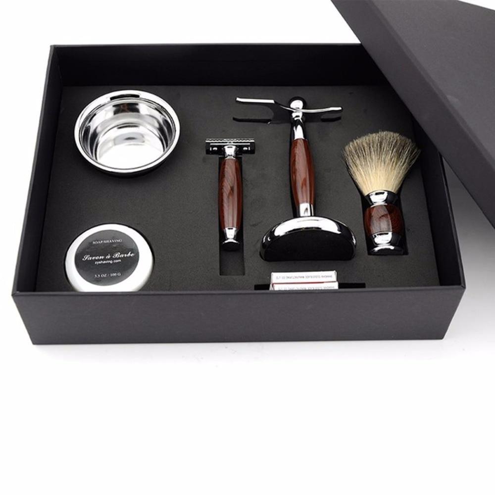 Best Gift Set Double Edge Safety Razor Set Mens Razor Kit +Razor Holder+Shaving Brush+Shaving Bowl+Shaving Soap+20pcs Blades adriatica часы adriatica 1105 51b3qf коллекция gents