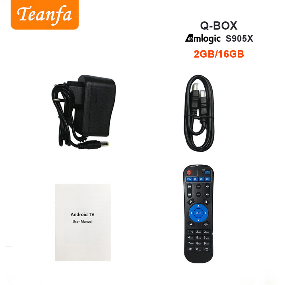 Teanfa Q BOX Set-top box 2G 16G Android 6.0 Smart TV Box S905X Quad - Accueil audio et vidéo - Photo 6
