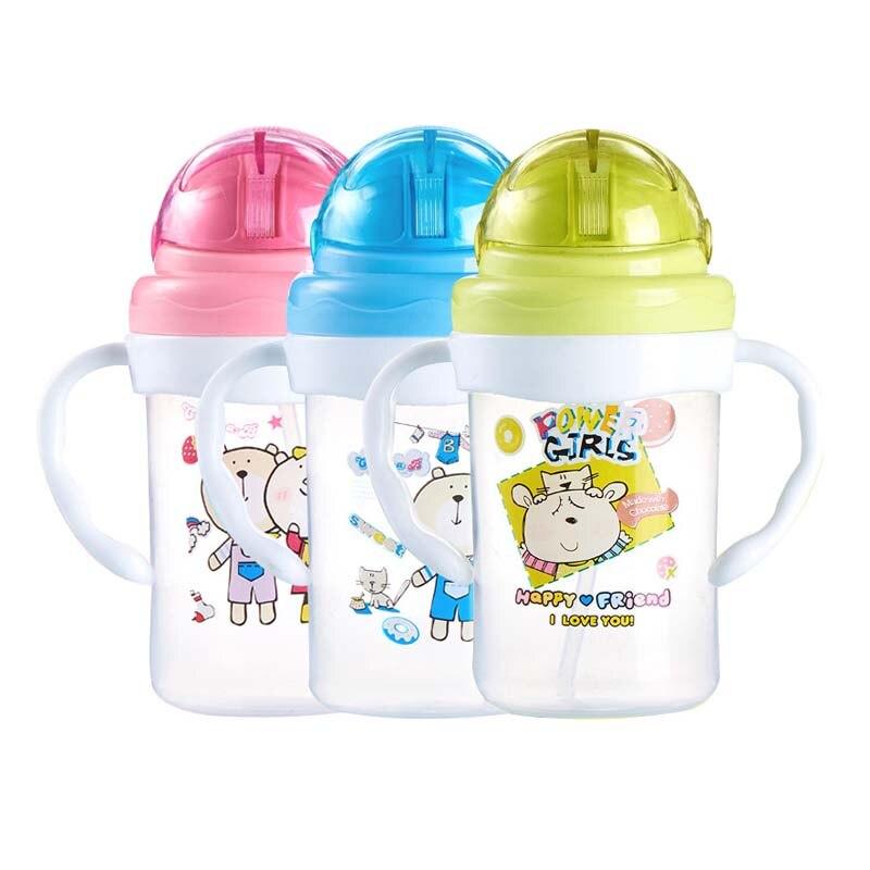 Neue Bär Bunny Fütterung Flasche Kinder Baby Infant Leck Beweis Wasser Fütterung Flasche Training Trinkbecher 280 Ml Exquisite Handwerkskunst; Fütterung