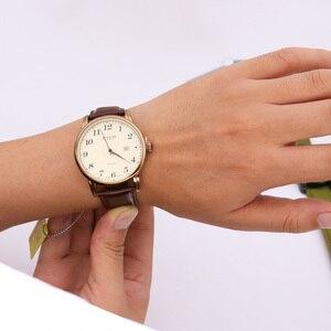 Image 5 - 4 צבעים למעלה יוליוס גבר גברים של שעון יפן קוורץ שעות שעון אוטומטי תאריך בסדר אופנה אמיתי עור ילד של רטרו יום הולדת אריזת מתנה