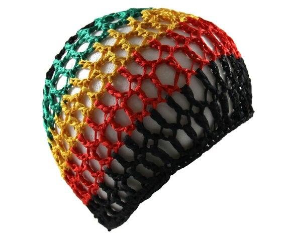 Rasta Crochet Kufi Hat Hair Net Women Sleeping Cap In