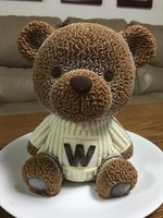Silicone Mousse Cake Mold 3D Big Teddy Bear With W Clothes Chocolate Mold Silicone Mold Cute Teddy for Make Cake