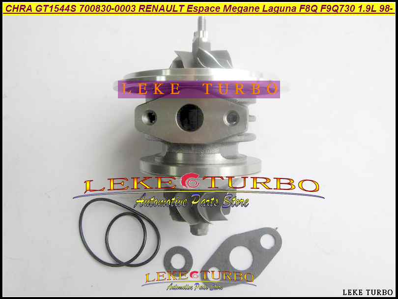 Turbo Cartridge CHRA GT1544S 700830 700830-0003 700830-0001 For Renault Kangoo Espace Megane Laguna Scenic F9Q F8Q730 1.9L 100HP turbo cartridge chra gt2256v 751758 751758 5001s 707114 0001 707114 for iveco daily for renault mascott 2000 8140 43k 4000 2 8l