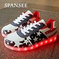 Размер 35-45 Мода Освещенные Shoes СВЕТОДИОДНЫЕ Тапочки Светящиеся Кроссовки Светящиеся Shoes with Light Up Корзины Femme Детей Feminino