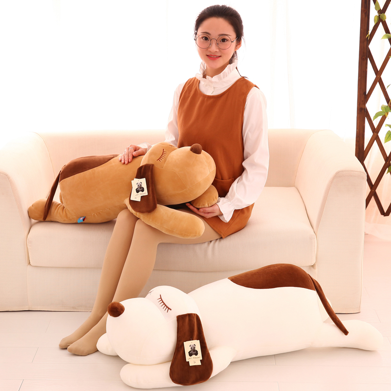 creative plush toy large 90cm prone dog soft doll throw pillow Christmas gift w0329 super cute plush toy dog doll as a christmas gift for children s home decoration 20