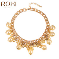 2015 New Fashionable Bright Flower Necklace Charm Rhinestone Necklace And Particularly Pearls Gift Necklaces