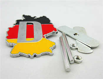 5 Sets Car 3D Metal Germany Flag Front Hood Emblem Badge For Cadillac Buick Chevrolet Ford Lincoln Chrysler Jeep Dodge Focus