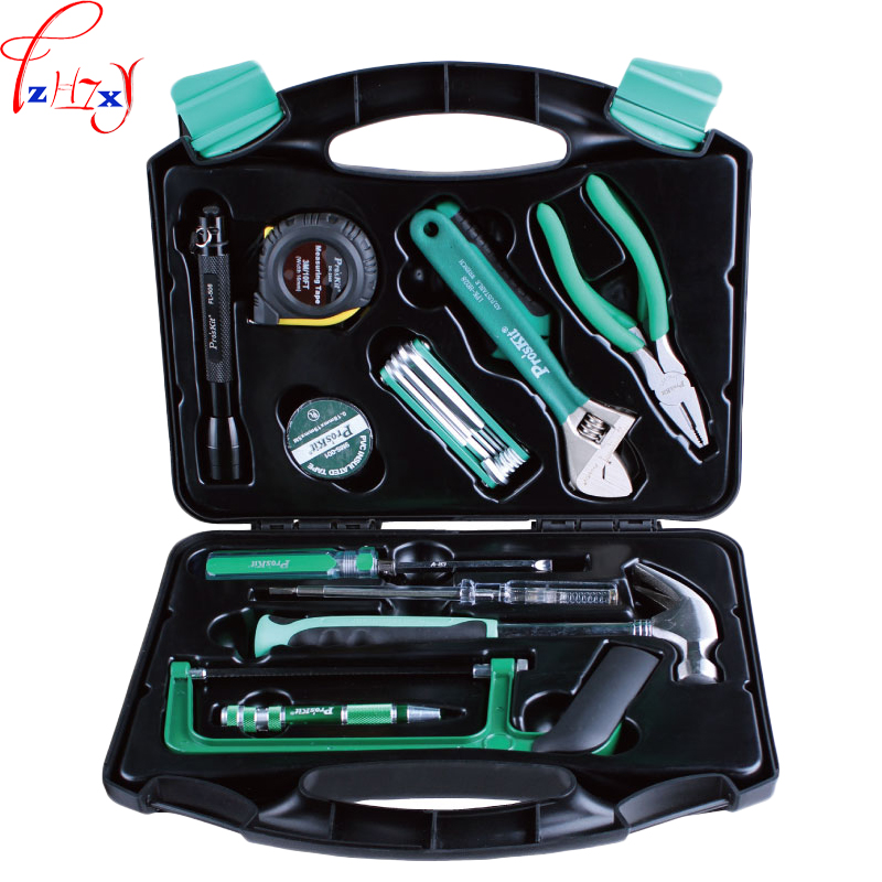28pcs/set household repair assemblage suit tools portable hardware repair kit steel saw hammer wrench tape tool set gub hin 181 portable bicycle stainless steel repair tool kit wrench set black