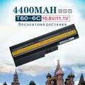 6 Аккумулятор Для IBM Lenovo Thinkpad R60 R60E R61 R61E R61i T60 T60P T61 (14.1, 15.4 ЭКРАН) T61P R500 T500 W500 Sl500 40Y6799