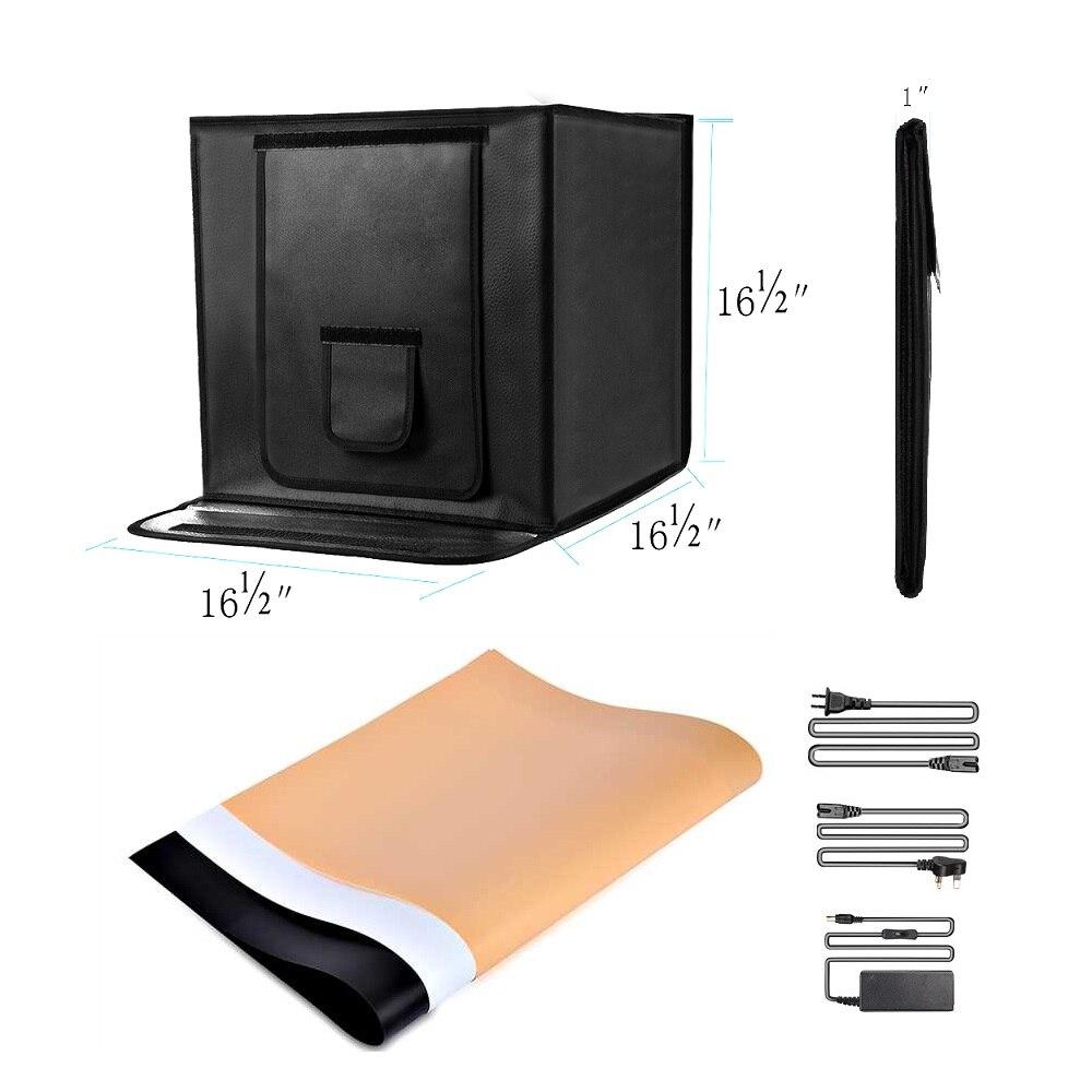 Travor 40*40 cm boîte à lumière Portable Lightbox avec 3 couleurs fond pour Studio Photo pliante Softbox tente boîte à lumière-in Table de tir from Electronique    3