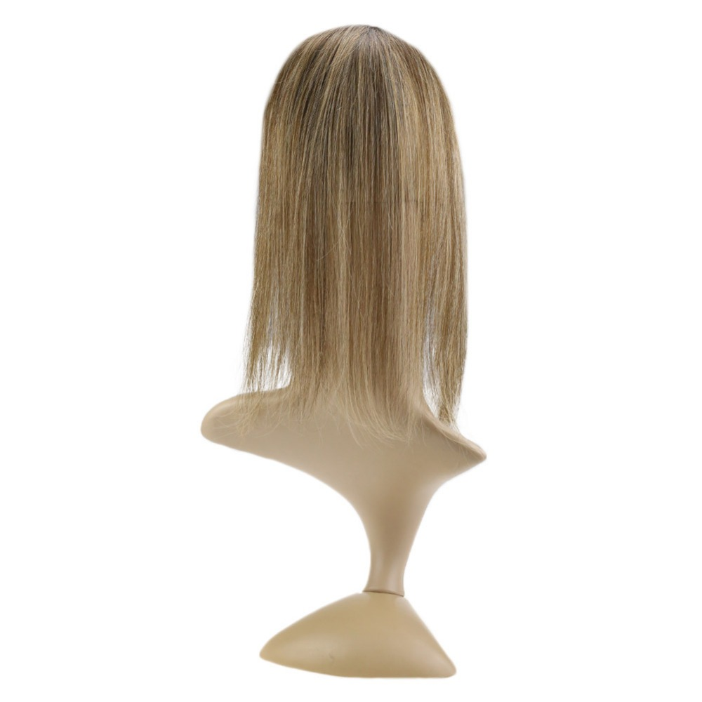 Full Shine 20-40g Machine Made Remy Topper #4/27/4 12*6cm Crown For Women Mono Toppers With Clop Toupee For Thinning Hair