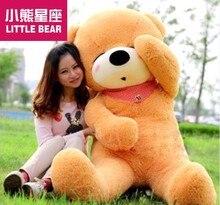 huge plush lovely teddy bear toy large sleeping bear toy stuffed big light brown teddy bear gift 180cm