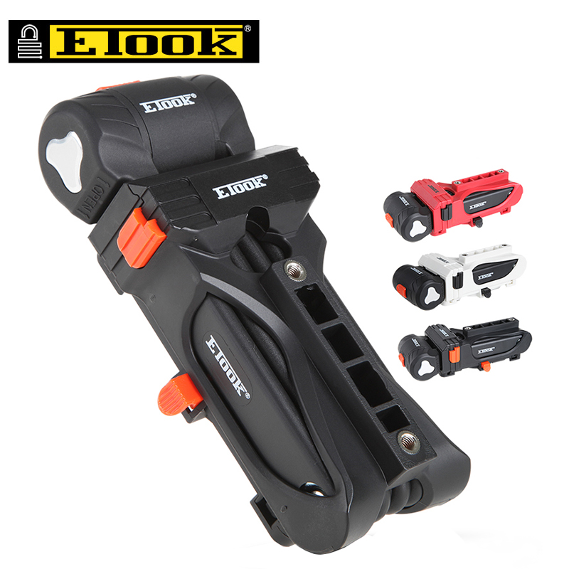 ETOOK Alloy Steel Folding Road Mountain Bike <font><b>Lock</b></font> Anti-theft Cycling Foldable Key <font><b>Lock</b></font> For Motorcycle Bicycle Bottle Cage Mount