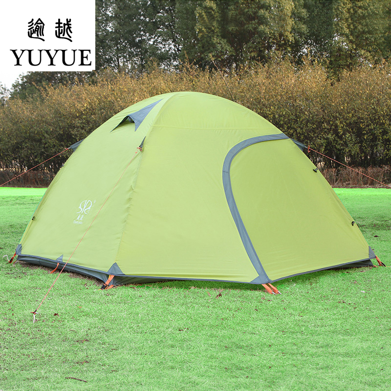 3-4 person waterproof tourist tent for hiking the tent camp Waterproof index 3000mm aluminium pole carpas de camping tente 0