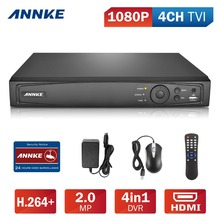 ANNKE 4CH 1080P HD-TVI Security DVR Recorder, H.264 Digital Video Recorder with Motion Detection