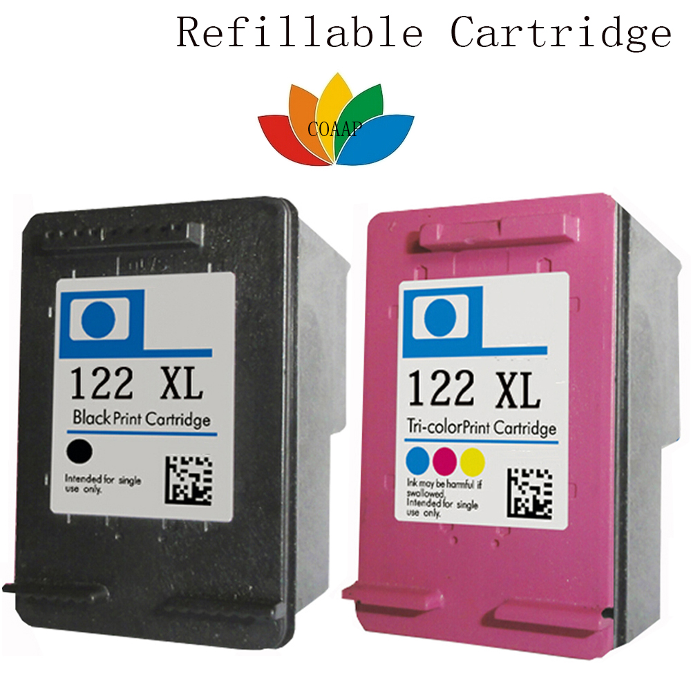 2x ink Cartridge for Compatible hp 122 Ink 122xl Black & Tri-color Deskjet 1000 1050 2000 2050 3000 3050A 3052A printer