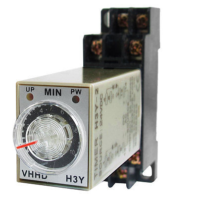 DC24V/DC12V/AC110V/AC220V  0-10 Minute 10m Timer Power On Delay Time Relay 8 Pin H3Y-2 w Socket 5 pieces h3y 2 power on time delay relay solid state timer max 30m 220vac dpdt